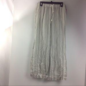 New Women's Striped Pants Sleep Pajamas Gray